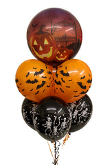 "Halloween Bouquet - Bubble & 11"" Latex"