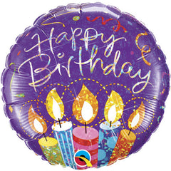 "18"" Foil Balloons - Birthday Party Candles"