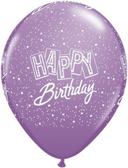 "11"" Latex Balloons - Happy Birthday Confetti"