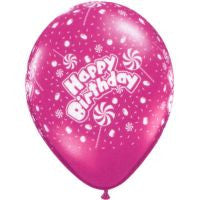 "11"" Latex Balloons - Birthday Candy-A-Round"