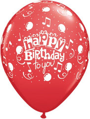 "11"" Latex Balloons - Happy Birthday To You Balloons"