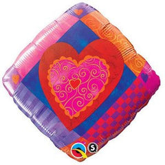 "Heart Accent Patterns - 18"" Foils"