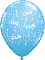 "11"" Latex Balloons - It's A Boy-A-Round"