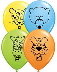 "11"" Latex Balloons - Jungle Animal"