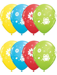 "11"" Latex Balloons - Frogs & Daisies"