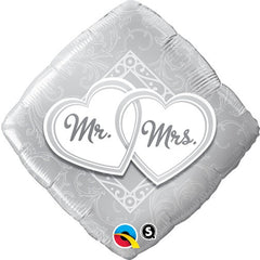 "Mr. & Mrs. Entwined Hearts - 18"" Foils"