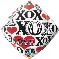 "Red Hearts, Love, X's & O's - 18"" Foils"