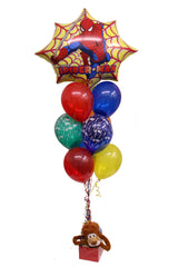 Spiderman Supershape & 9 Latex Balloons Bouquet