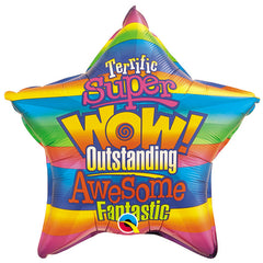 "Thank You Messages Star - 18"" Foil Balloon"