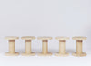 PaperPhine: 5 Wooden Bobbins / Spools - made exclusively - beechwood