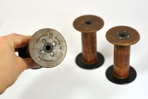 PaperPhine: Bobbin - Vintage Silk Bobbins OOAK - Spool - Collectible