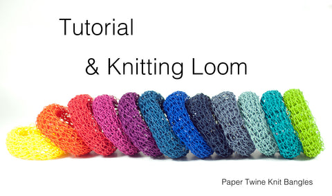 DIY Kit: Knit Bangle / Tutorial & Loom