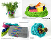 PaperPhine: Paper Raffia - Samples: Knit Basket, Crochet Basket, Gift Wrap, DIY