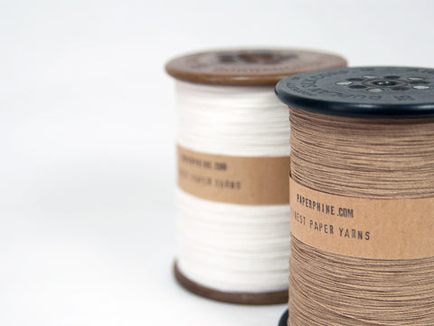 Finest Paper Yarn on a Vintage Silk Bobbin: Natural-Kraft