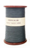 Finest Gray Paper Yarn on a Small Vintage Silk Bobbin