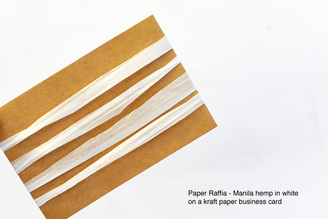 NEW Paper Raffia - Manila hemp: White
