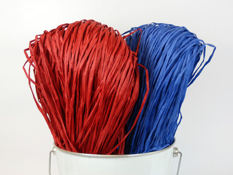 PaperPhine: Paper Raffia in Red and Blue