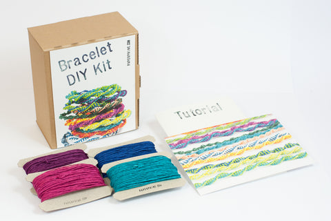 PaperPhine: Paperyarn DIY Kit: Friendship Bracelets - Macrame - Easy and Fun DIY