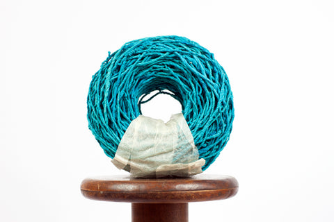 NEW Handmade Paperyarn: Teal - 55 yards (50m)