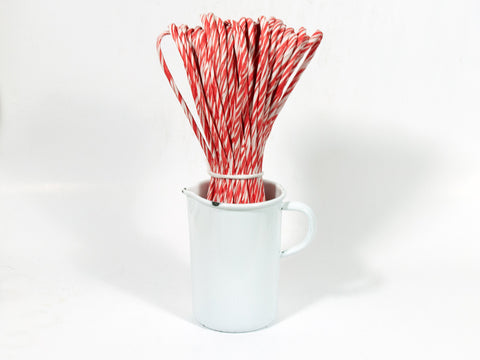 Red-White Striped Paper Cord