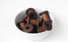 Set: 10 Small Stained New Wooden Bobbins