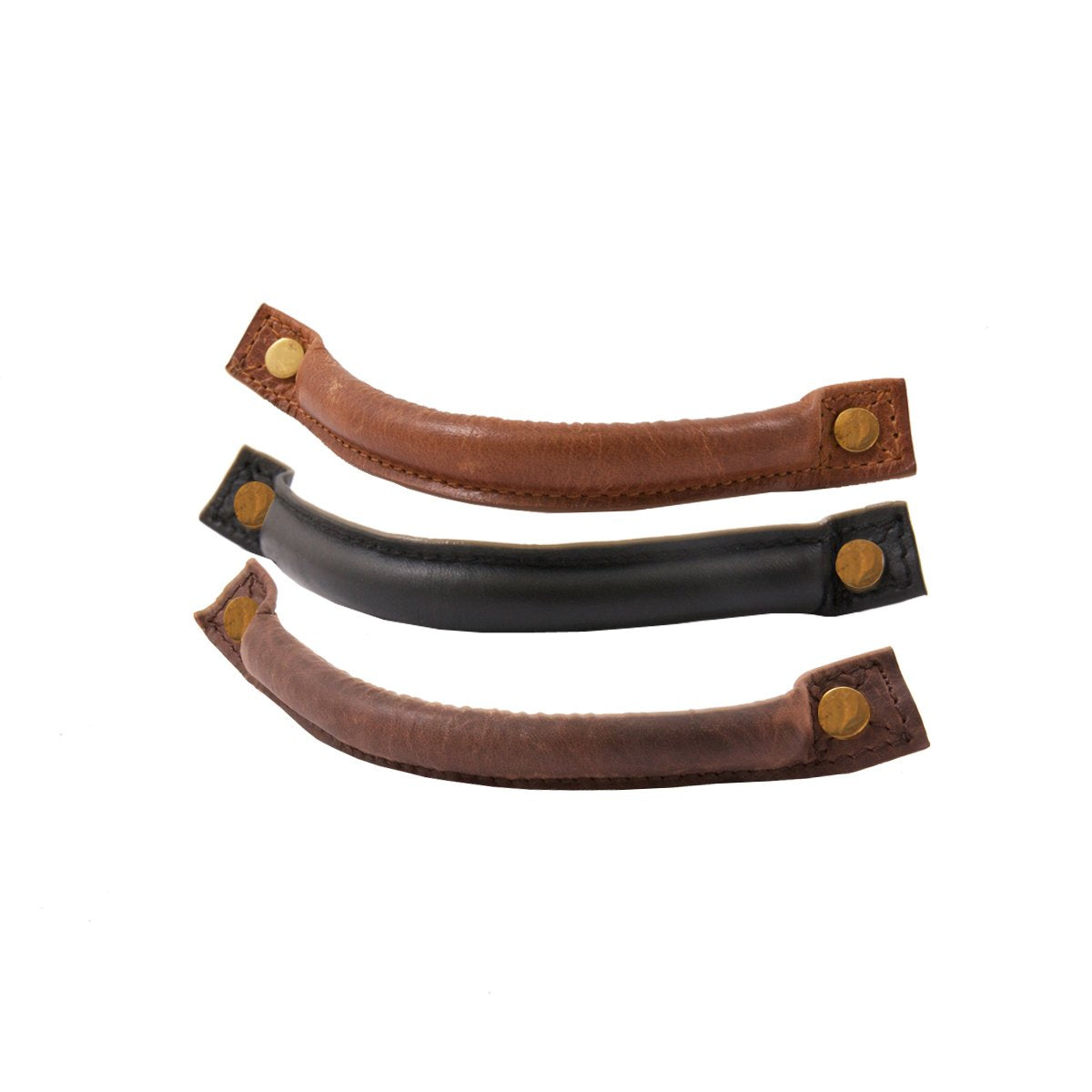 Rounded Leather Handles (Brown/Oak/Black)