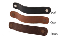 Flat leather handles/loops (comes in 3 colors)