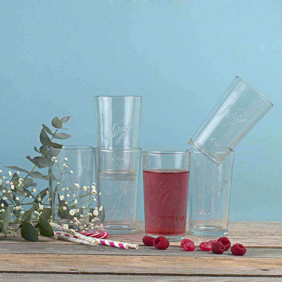 Norgesglasset Drinking Glass 14 fl oz 6pk - *Limited preorders, shipped in September*