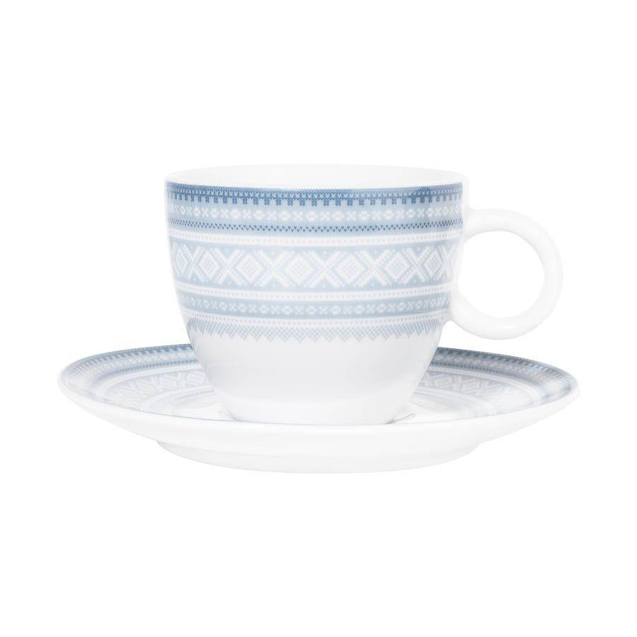 Mug with coffee bowl - 6.8 fl oz Cappucino BLUE, in gift box - MARIUS