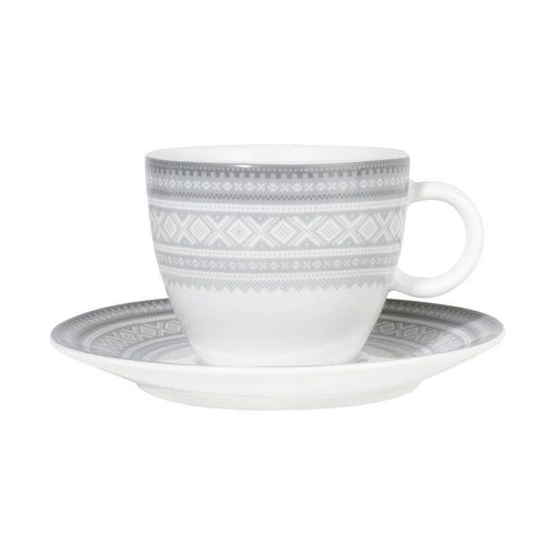 Buy Mug with coffee bowl - 20cl Cappucino GRAY, in gift box - MARIUS - FromNorge.Com