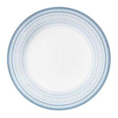 Flat dinner plate (8.7in) BLUE Marius pattern, 4-pack - MARIUS