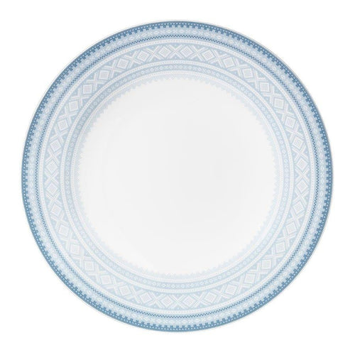 Buy Flat dinner plate (22cm) in BLUE Marius pattern, 4-pack - MARIUS - FromNorge.Com