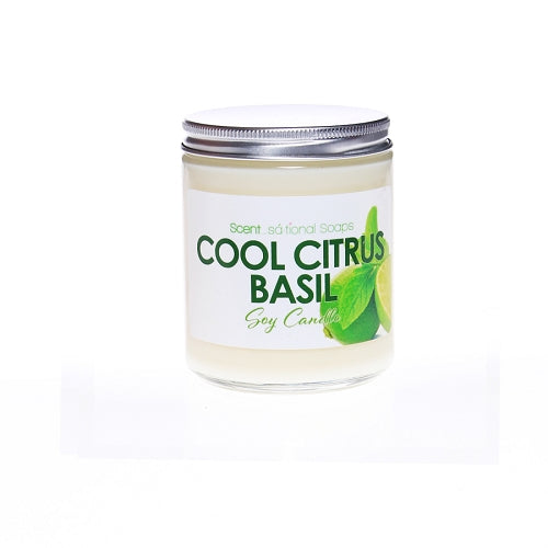 Cool Citrus Basil Soy Candle