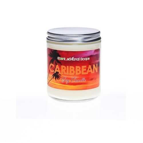 Caribbean Scented Soy Candle