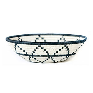 Thousand Hills B & W Handwoven Large Basket