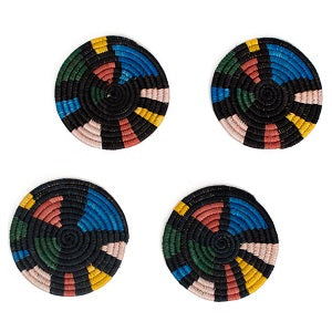 Mosaic B & Neon Coaster Set