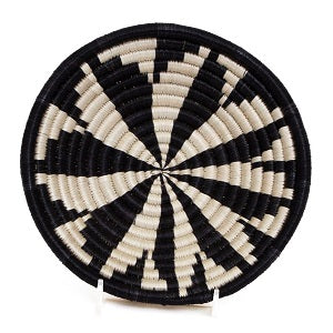 Virunga B & W Handwoven Small Basket