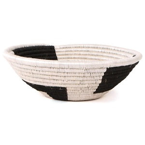 Geo B & W Handwoven Large Basket