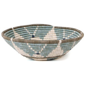 Silver Blue Hope Handwoven XL Basket