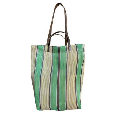 Small Assam Market Bag. Green
