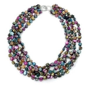 6-Strand Mother of Pearl Necklace