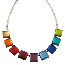 Load image into Gallery viewer, Square Buttons Necklace
