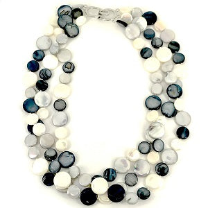 3-Strand Mother of Pearl Necklace