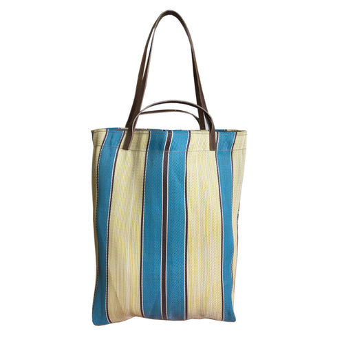 Small Assam Market Bag. Blue