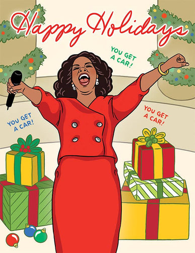 Oprah You Get a Card Happy Holiday Card