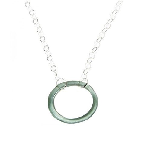 Clear Large Circle with Silver Chain