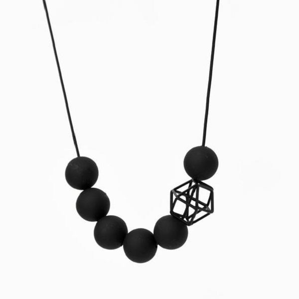 Matte Black Hex Hex Necklace