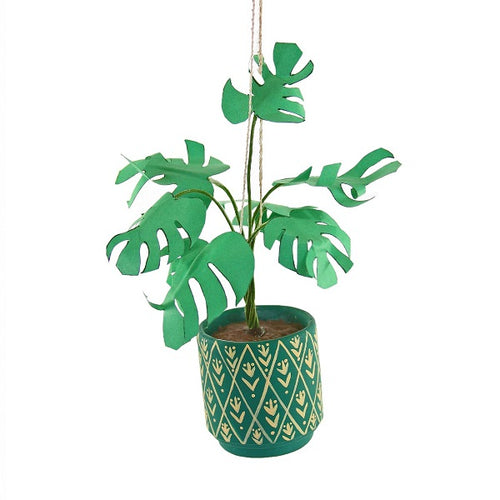 Houseplant in Green Pot Ornament