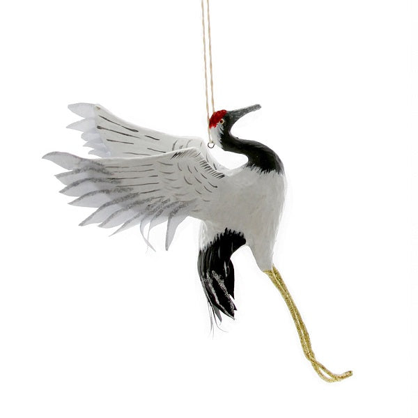 Red Crowned Flying Crane Ornament