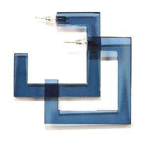Square Hoop Lucite Earrings